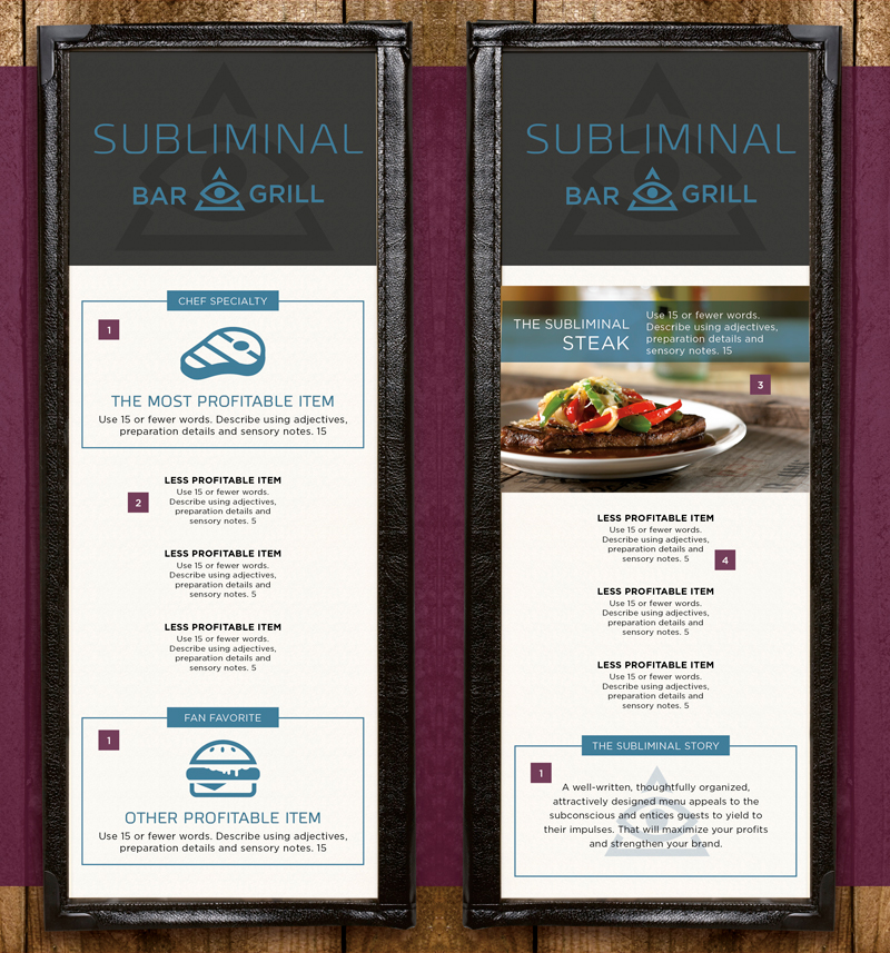Fundamentals of Menu Design Example Image