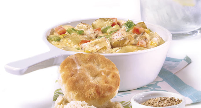 Chicken Stew and Biscuits