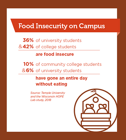 food insecurity on campus infographic