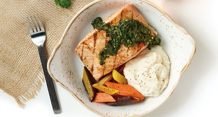 Grilled Salmon Chimichurri