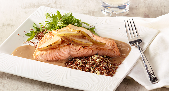 Seared Salmon with Pear