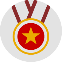 Medal with star