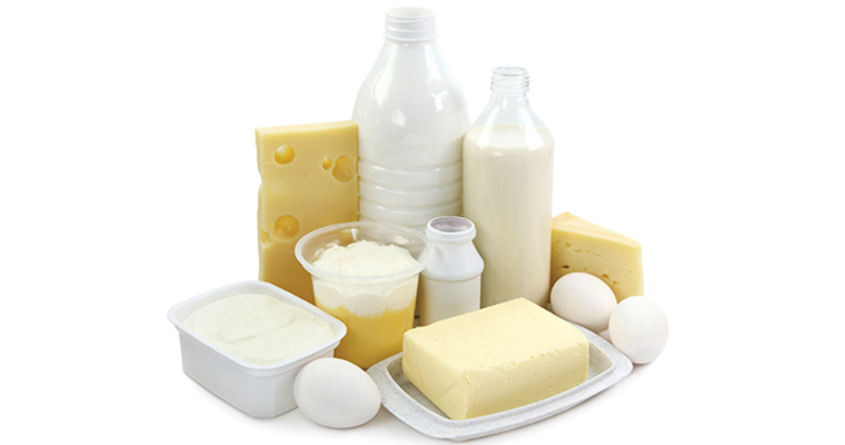 Milk, cheese, butter, cream, eggs and other dairy products