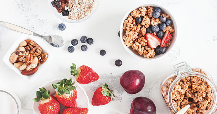 Cereals and fruits compliant with Child and Adult Care Food Program regulations