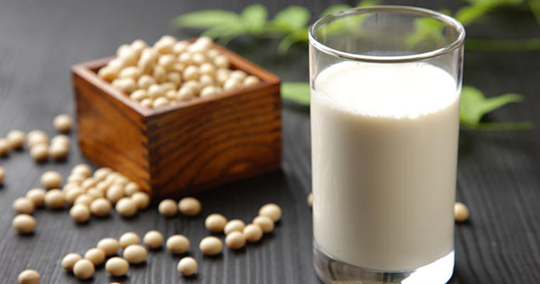 Soy milk and nuts