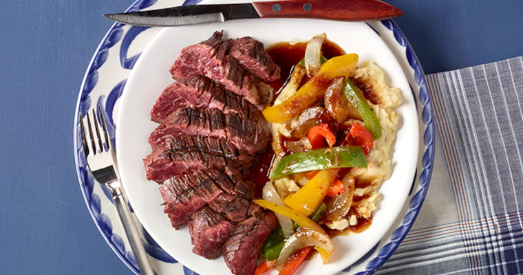 Tomatillo Poblano Hanger Steak
