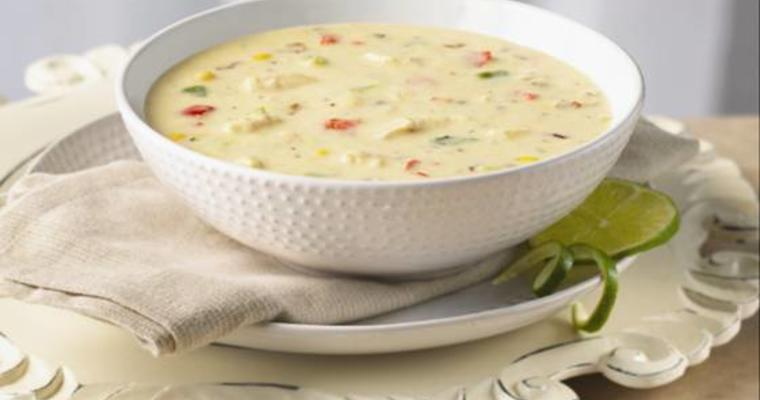 Bowl of corn chowder