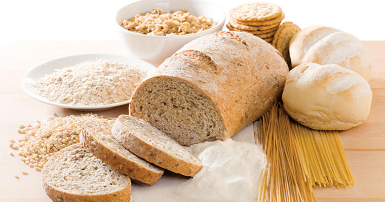 Loaf of bread and other grains