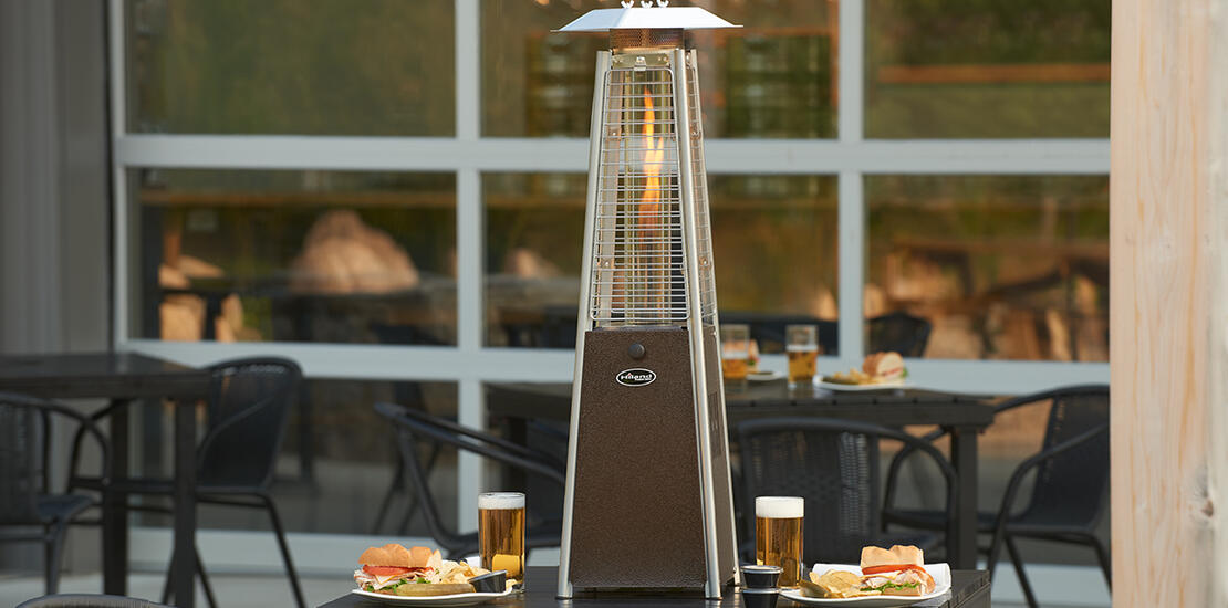 outdoor patio with heater