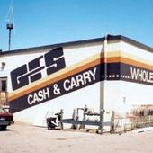 Side of a GFS cash and carry building from 1979