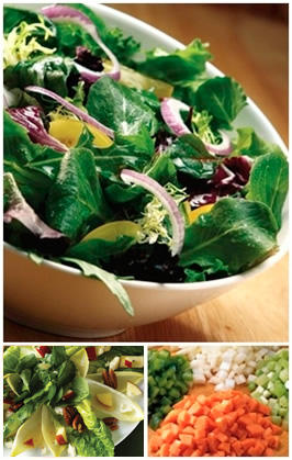Salads and vegetables