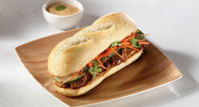 Asian Grilled Beef Banh Mi recipe for restaurants and foodservice