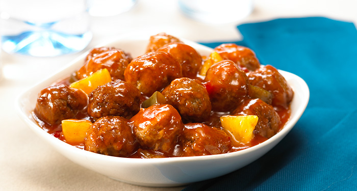 recipe: sweet and sour meatballs with pineapple and tomato sauce [14]
