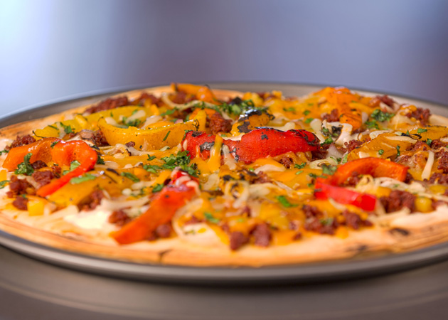 Chorizo & Roasted Red Pepper Grilled Pizza