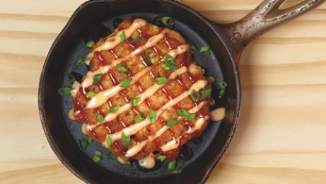 The savory okonomiyaki: a pancake worthy of all-day dining menus and beyond.