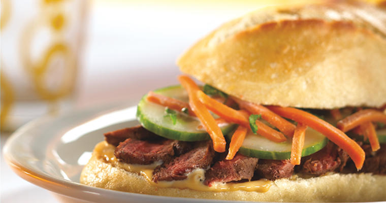Updated Chicago-style Beef Sandwiches